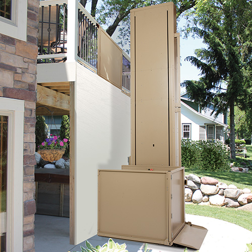 Wonderful ... Residential Indoor And Outdoor Vertical Platform Wheelchair Lift ...