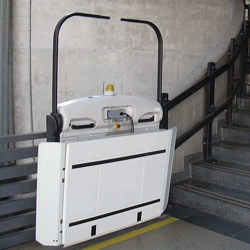 Wheelchair Stair Lifts : Savaria commercial curved rail inclined wheelchair lift