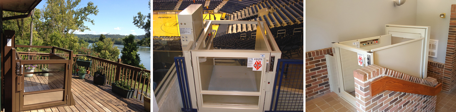 vertical platform lift slide